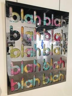 Blah Blah - One-of-a-kind inox mirror - Joseph