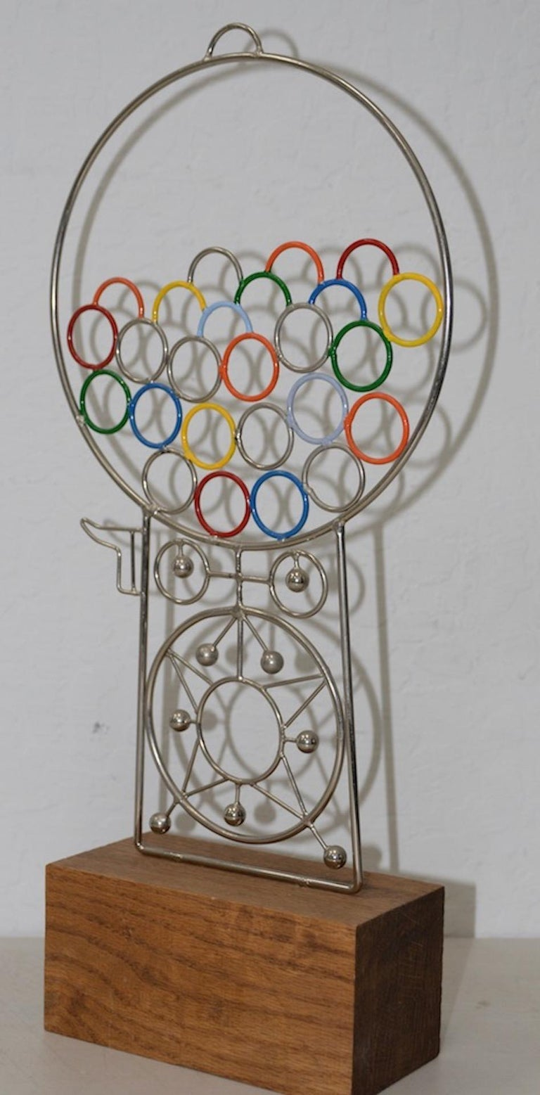 Other Joseph A. Burlini Gumball Machine Sculpture, circa 1983 For Sale