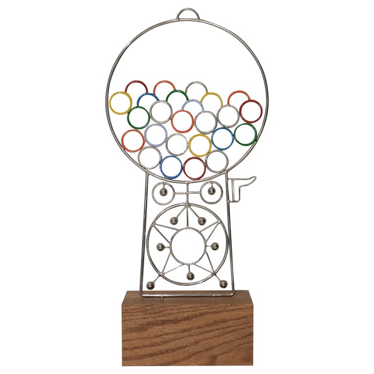 Joseph A. Burlini Gumball Machine Sculpture, circa 1983 For Sale