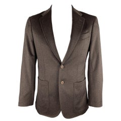 JOSEPH ABBOUD Size 40 Brown Textured Cashmere Sport Coat / Blazer Jacket