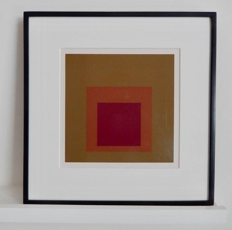 A luminous color screen print titled