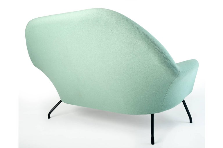 Mid-20th Century Joseph-André Motte Rare and Futuristic Modernist Model 770 Sofa, France 1950's For Sale