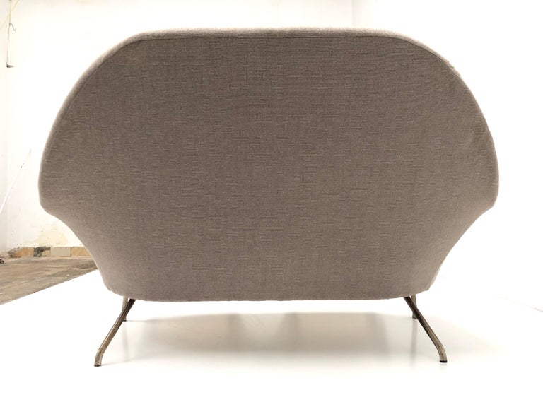 J.A Motte '770' lounge set comprising pair lounge chairs & sofa, 1958, Restored For Sale 3
