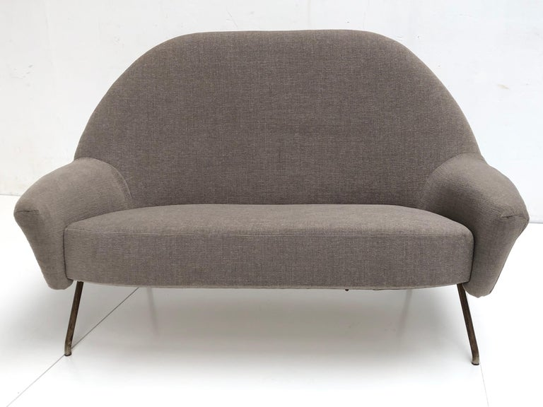 J.A Motte '770' lounge set comprising pair lounge chairs & sofa, 1958, Restored For Sale 1