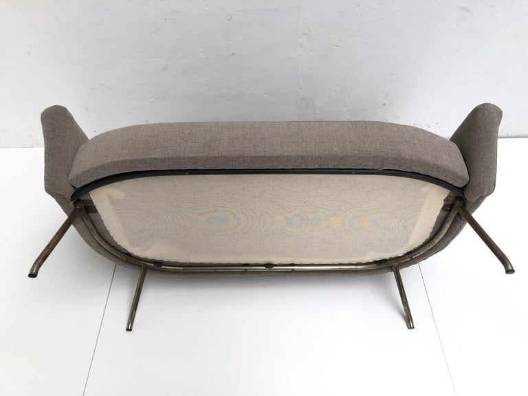 J.A Motte '770' lounge set comprising pair lounge chairs & sofa, 1958, Restored For Sale 5