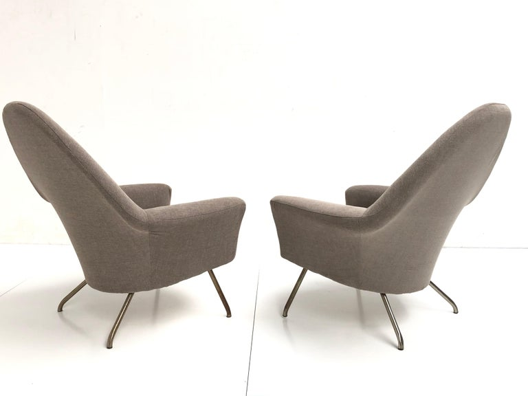 Mid-20th Century J.A Motte '770' lounge set comprising pair lounge chairs & sofa, 1958, Restored For Sale