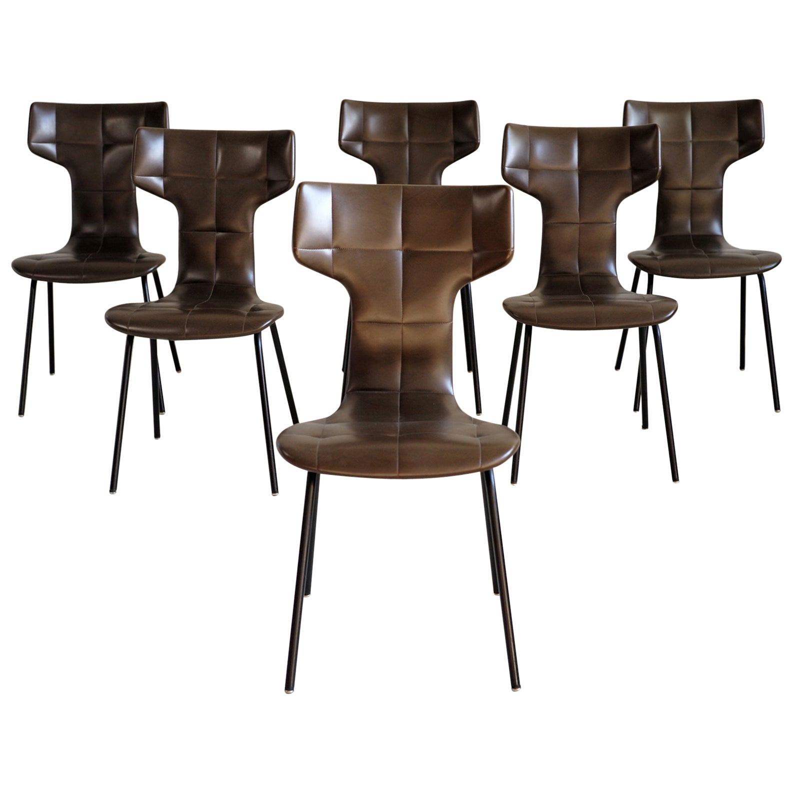 "Joseph-André Motte, Set of 6 ""Pelican"" Chairs, France, 1960"