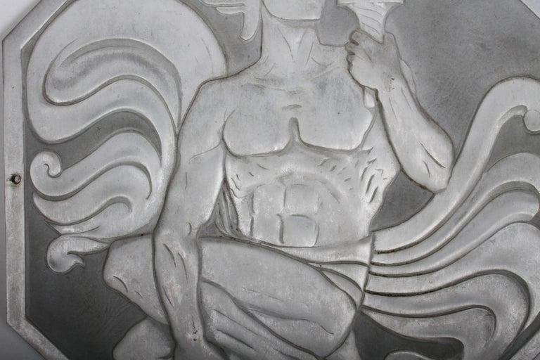American Joseph Anthony Atchison Rare Art Deco Relief Panel