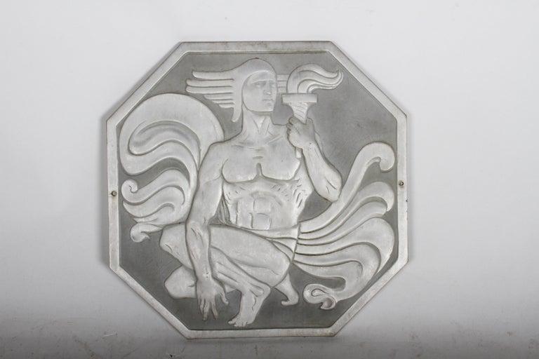 Mid-20th Century Joseph Anthony Atchison Rare Art Deco Relief Panel