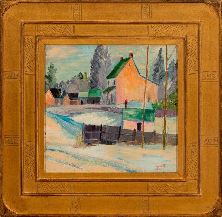"Joseph Barrett Landscape Painting - ""Bucks County Village"""