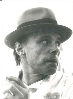 Beuys Portrait - 1970s - Original Vintage b/w Photo