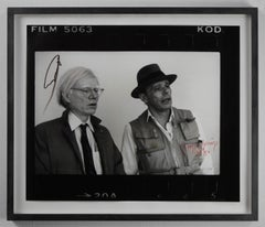 Beuys & Warhol (New York 1979), by ZOA, signed by Beuys & Warhol (only 9 of 50)