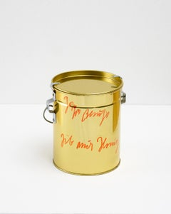 gib mir Honig / give me honey / Blecheimer für Honig / honey bucket / signed