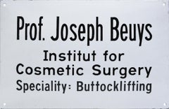 Joseph Beuys, Institut for Cosmetic Surgery, 1974