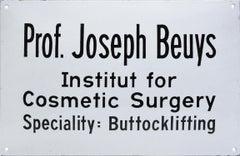 Joseph Beuys, Institut for Cosmetic Surgery, 1974