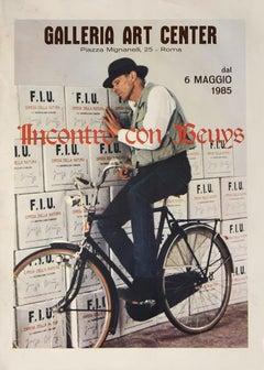 Vintage Beuys Poster - Galleria Art Center - Offset - 1985