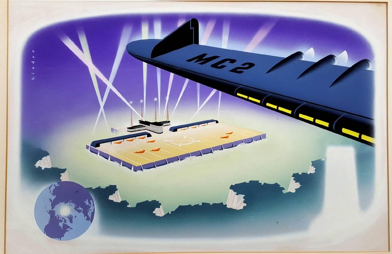 """North Pole Airport Illustration   - """"Men Who Plan Beyond Tomorrow""""  For Sale 1"""