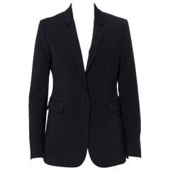 Joseph Black Crepe Button Front Blazer L