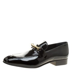Joseph Black Patent Leather Loafers Size 39