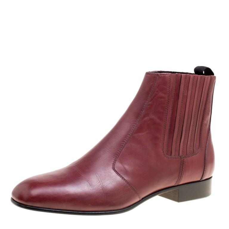 957c91c2113 Joseph Burgundy Leather Chelsea Boots Size 38