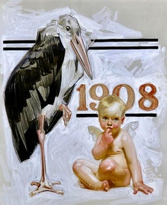 New Years Baby, Saturday Evening Post Cover, 1907