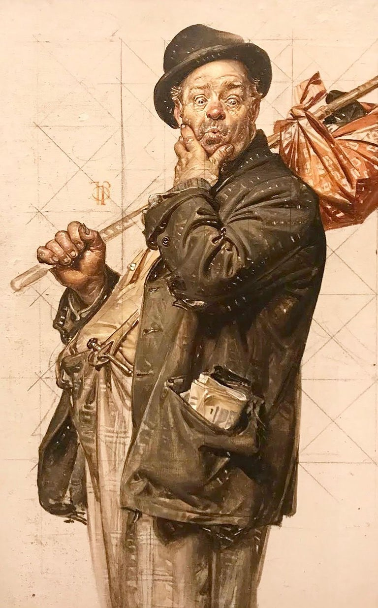 Joseph Christian Leyendecker - Study for 'Who, Me Work?' Post ...