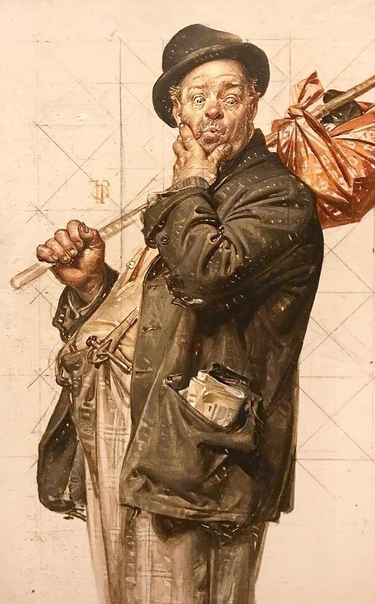Joseph Christian Leyendecker - Study for 'Who, Me Work?' Post ...