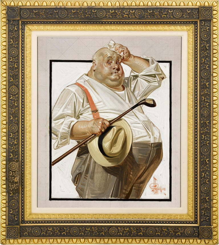 The Reluctant Golfer - Painting by Joseph Christian Leyendecker