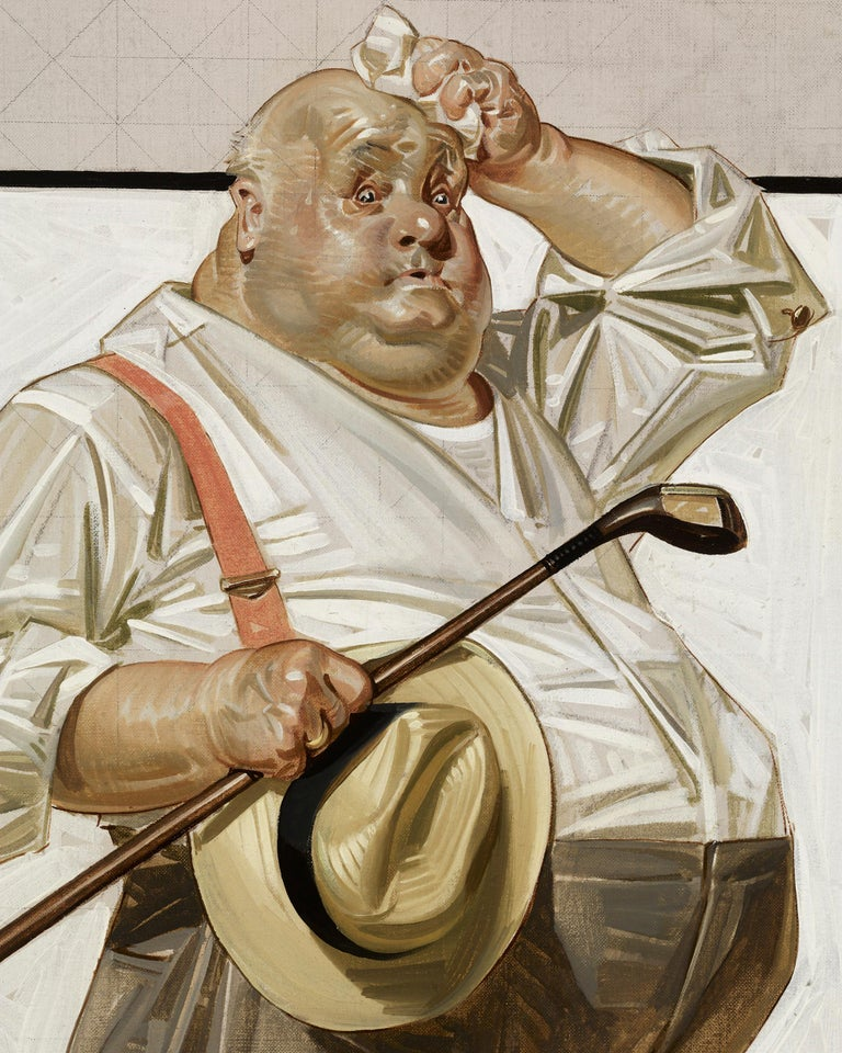 The Reluctant Golfer - American Modern Painting by Joseph Christian Leyendecker