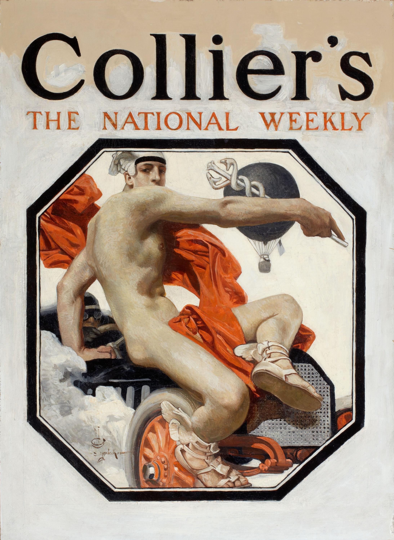 The Speed God Mercury, Collier's Magazine Cover