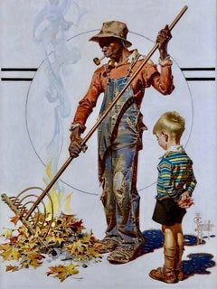 Yard Work, Saturday Evening Post Cover, Nov. 6, 1937