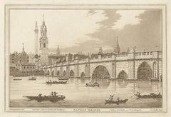 London Bridge, C18th English aquatint