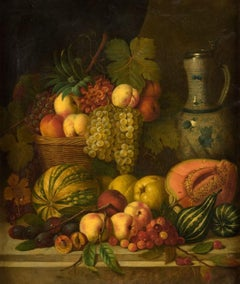 Still life with fruits. 19 century, oil on canvas, 72x62 cm