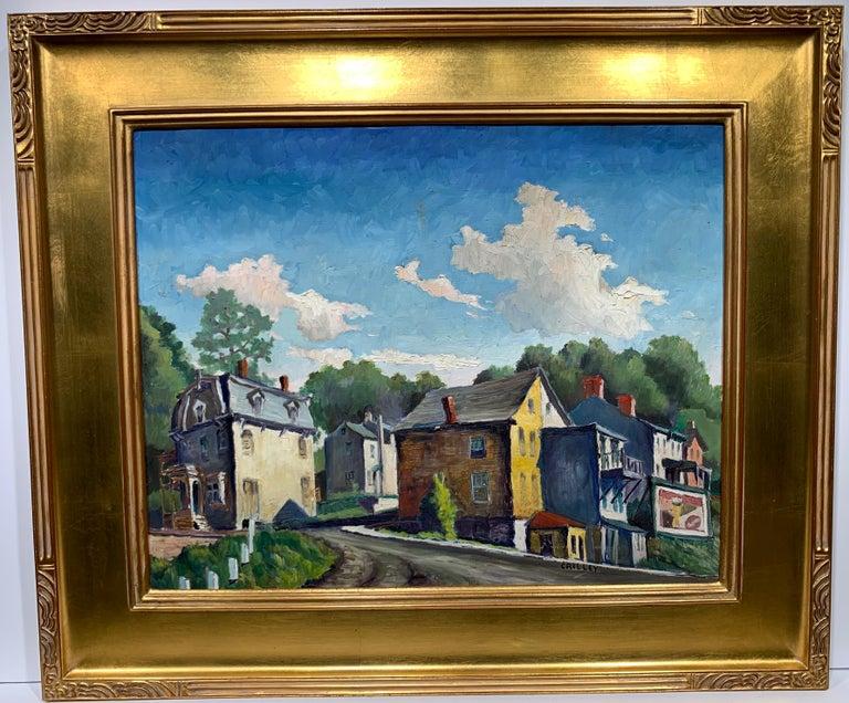 Lambertville NJ (American Realist landscape) - Painting by Joseph Crilley