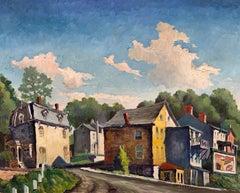 Lambertville NJ (American Realist landscape)
