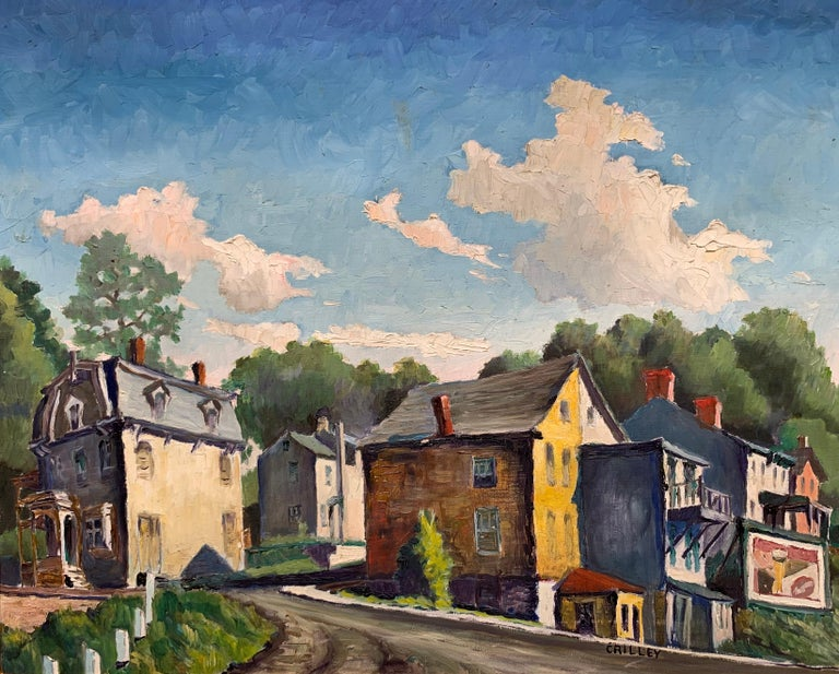 Joseph Crilley Landscape Painting - Lambertville NJ (American Realist landscape)