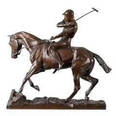 Joseph Cuvelier Equestrian Bronze, circa 1860