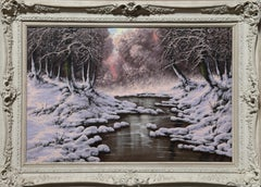 Snowy Banks of the River, Oil Painting by Joseph Dande