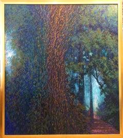 Dry Vines Impressionist Landscape