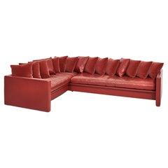 Joseph D'Urso Leather Sectional Sofa, Knoll, 1980
