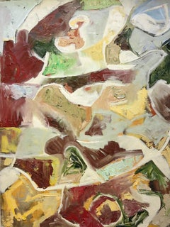 Untitled (abstract expressionist mid-century modern painting)