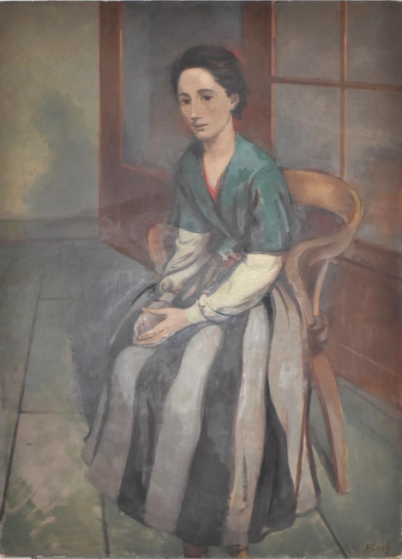 Colette II - Jewish Art, Post War, Oil Painting