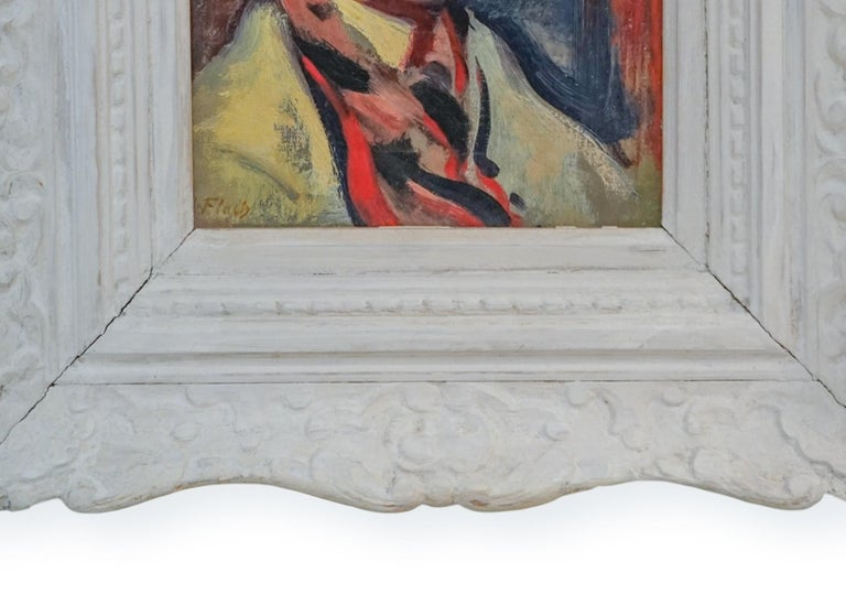 Expressionist High Society Portrait of a Lady  ACA GALLERY - Painting by Joseph Floch