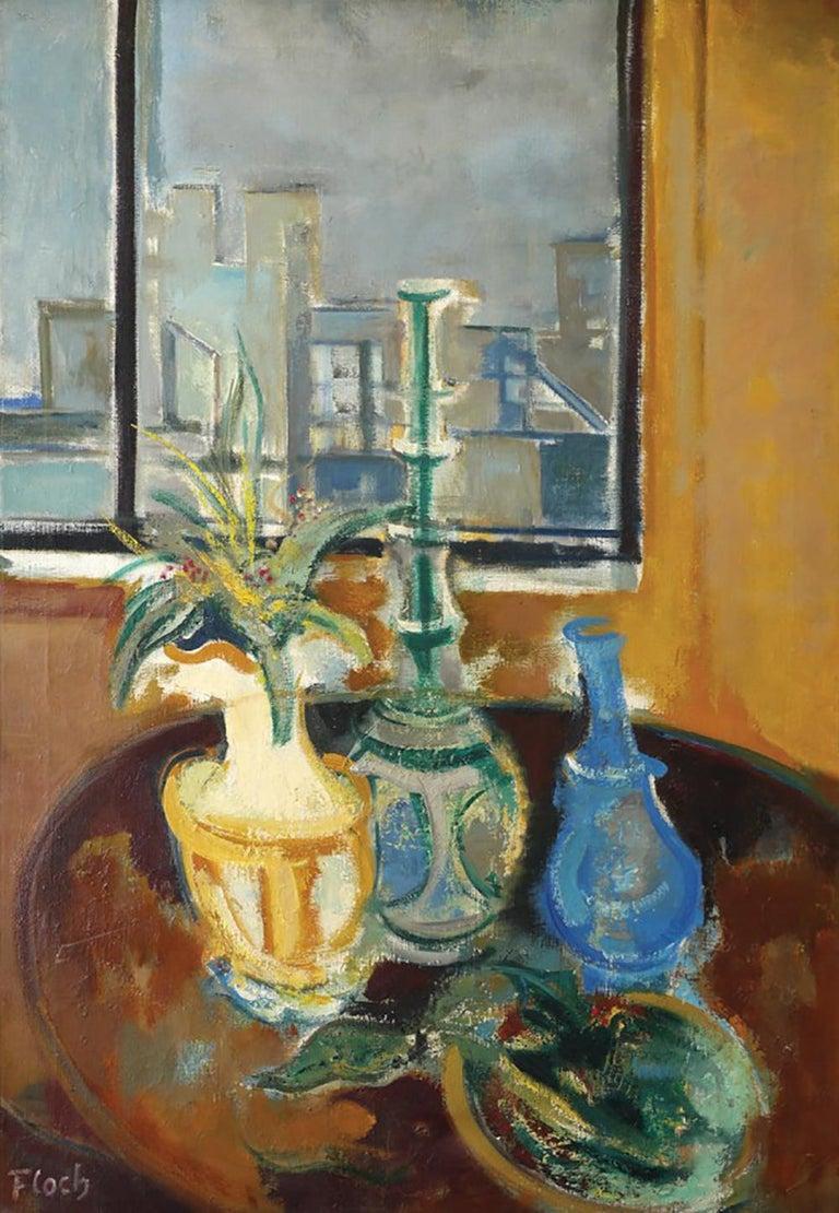 Joseph Floch Still-Life Painting - Still Life at the Window