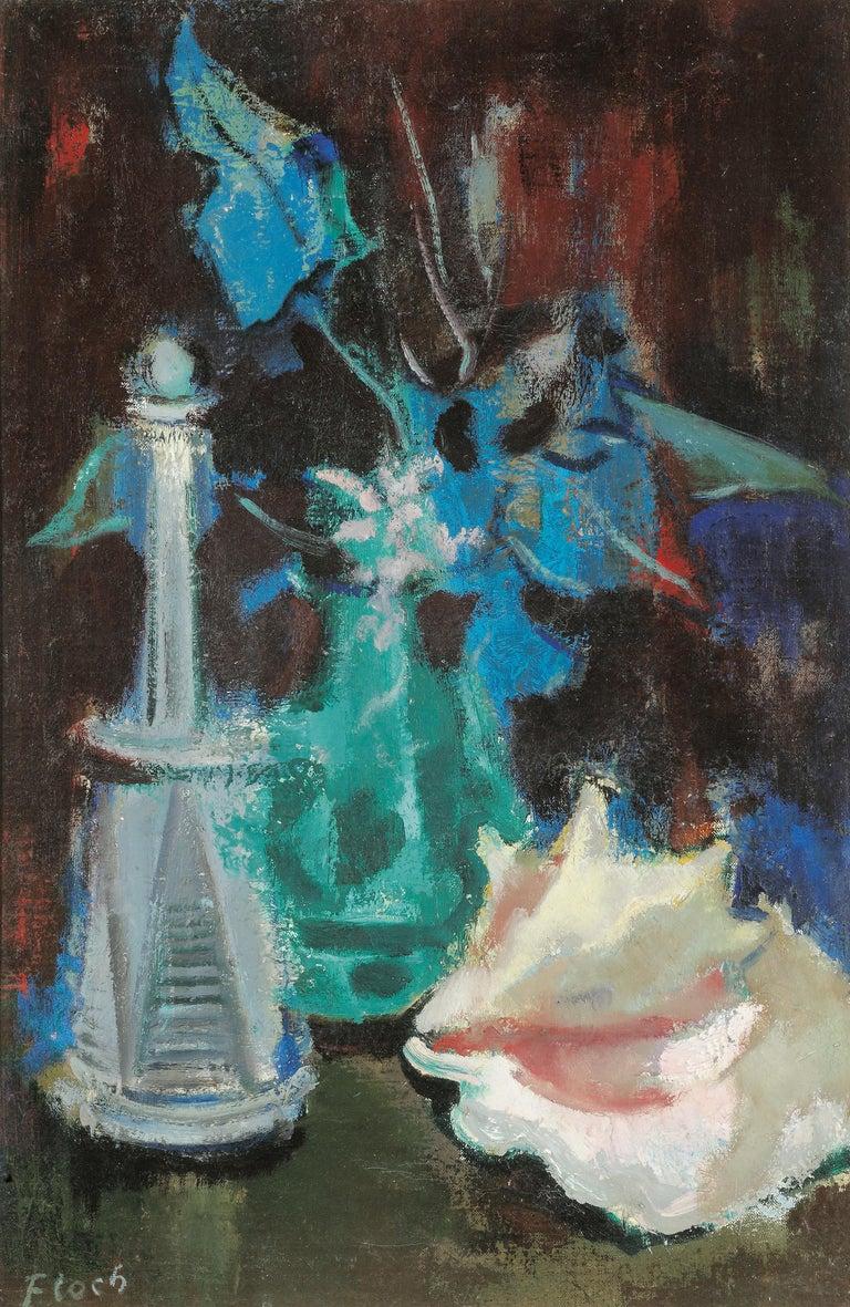 Joseph Floch Still-Life Painting - Still Life with Shell