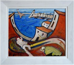 The Wave of the Port of Sete, Oil on canvas