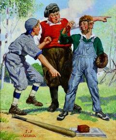Three Baseball Boys, Capper's Magazine Cover