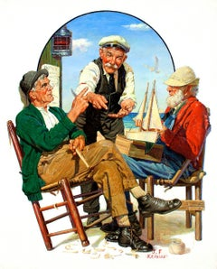 Three Old Salts, Saturday Evening Post Cover, October 1, 1932