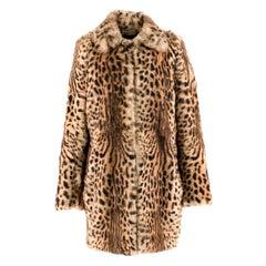 Joseph Fur Leopard-print Coat FR 38