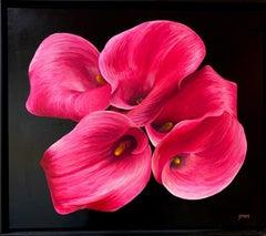 Calla Lilies, original 24x28 realist contemporary floral landscape